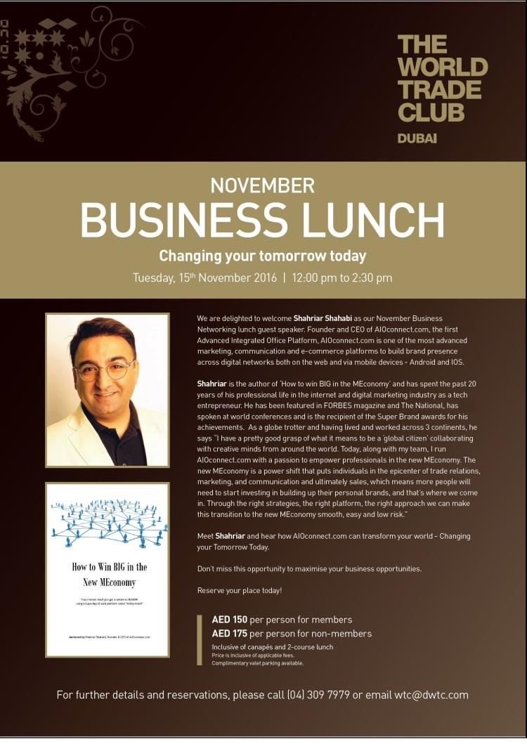 Shahriar Shahabi - World Trade Club Dubai